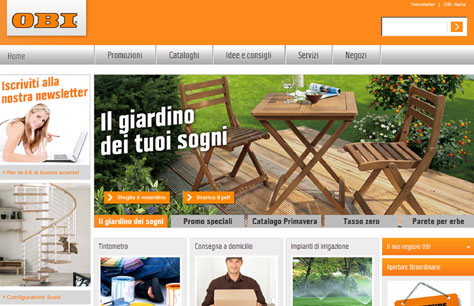 On line il nuovo sito web di obi ten minutes diy and garden