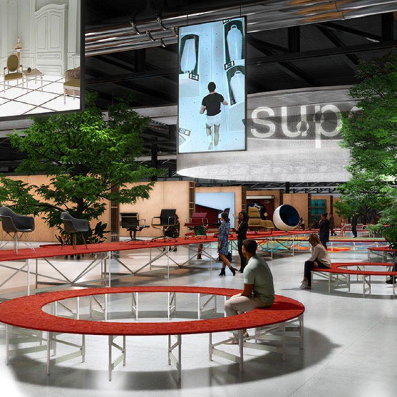 Rendering del Supersalone del Salone del Mobile.Milano